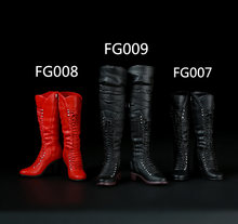 Аксессуары для экшн фигурок солдатиков 1/6 женские ботинки средней
