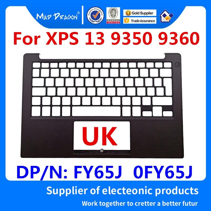 new original Laptop Replacement UK Palmrest Upper Cover Case For Dell XPS 13 9350 XPS13 9360 UK Palmrest Assembly FY65J 0FY65J