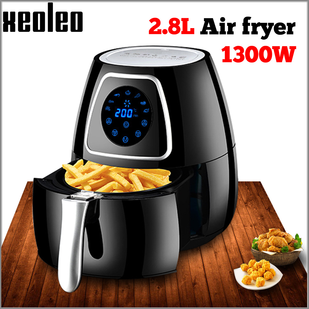 Air Fryers | XEOLEO Electric Air Fryer Hot Air Fryers 2.8L French Fries Fryer Intelligent Non Stick Air Frying Machine Household Equipment