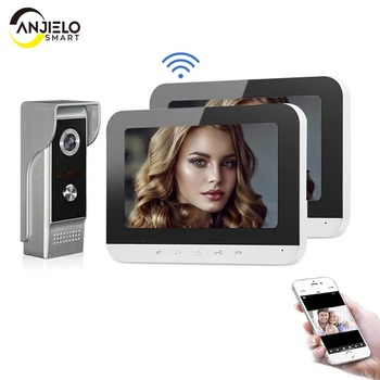 smartyiba 7 inch color display work for video intercom speakerphone system lcd tft hand free indoor monitor unit support unlock 7 Inch Wifi Video Intercom for Home Monitor Record System Video Door Phone Intercom System Unlock Doorbell for Home Security
