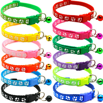 New 1Pc Cat Dog Pet Collar with Bell Adjustable Buckle Dog Collar Cat Puppy Pet Supplies Accessories Small Dog Chihuahua Name image