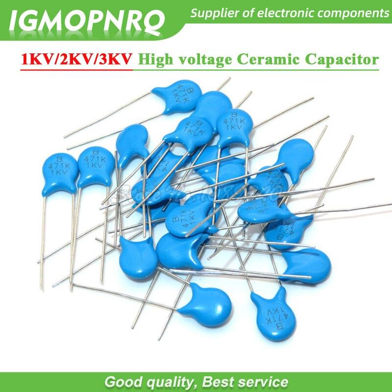 20pcs 4.7nF 1KV 1000V 472M High Voltage Ceramic Disc Capacitors