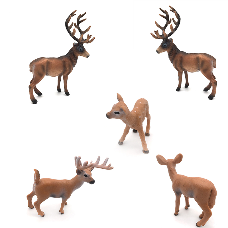 1PC Simulation Deer Christmas Decorations White-Tailed Reindeer Simulated Toy Xmas Elk Display Window New Year Model Kids