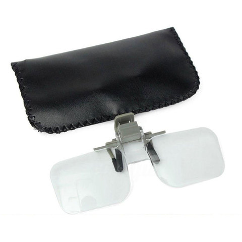 Magnifier Folding Handfree Clip On Clear Magnifying Glasses 2X 2X multiple Precise Eyeglasses Jewellery Appraisal Watch Repair Islamabad