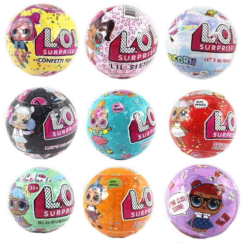 Surprise LOL Dolls Color Change Egg Confetti Pop Series Dress Doll Magic Ball Action Figure Kids Toys For Children Christmas