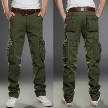 2020 Brand Mens Military Cargo Pants Multi-pockets Baggy Men