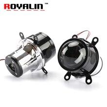 ROYALIN 2.5 inç sis ışık projektör Lens H11 ampuller Hi/Lo işın bi xenon HID araba styling evrensel güçlendirme sis lambası su geçirmez