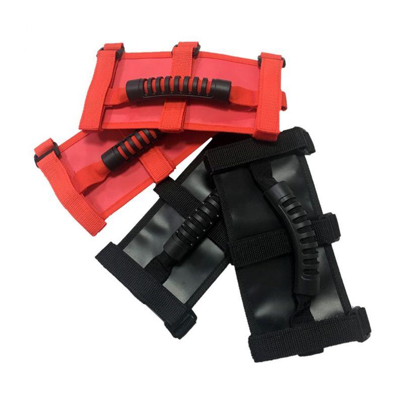 Новинка, 1 шт., автомобильный рулон, поручень, ручки, черный/красный цвет, для Jeep Wrangler CJ YJ TJ JK, авто, внешние части, аксессуары