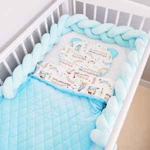 1M/2M/3M Length Bed Bumper Baby Bed Bumper Long Knotted Braid Pillow Cushion Crib Protector Cot Bumper Infant Room Decor