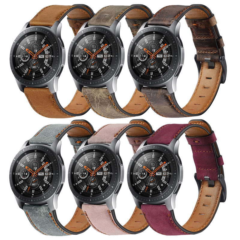 Huawei gt <font><b>watch</b></font> band for <font><b>Samsung</b></font> Galaxy <font><b>Watch</b></font> <font><b>46mm</b></font> Gear S3 Frontier 22mm Genuine Leather huawei 2 classic <font><b>bracelet</b></font> accessories image