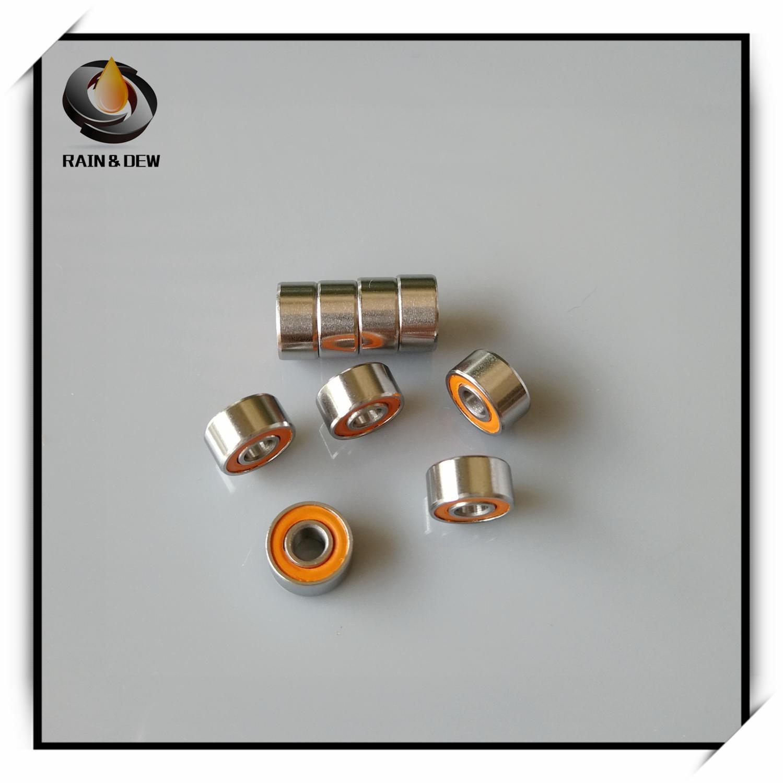 1Pcs S693 2OS CB 3X8X4 Stainless Steel Hybrid Ceramic Ball Bearing 3x8x4mm S693 2OS CB ABEC7 693 Fishing Vessel Bearing