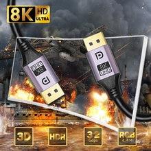 Порт дисплея кабель Кабо порт 14 8k hdr 60hz 144hz dp для видео