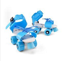 Talla ajustable patines para niños doble fila 4 ruedas patines zapatos deslizantes Slalom en línea patines para niños regalos zapatillas de rodillo