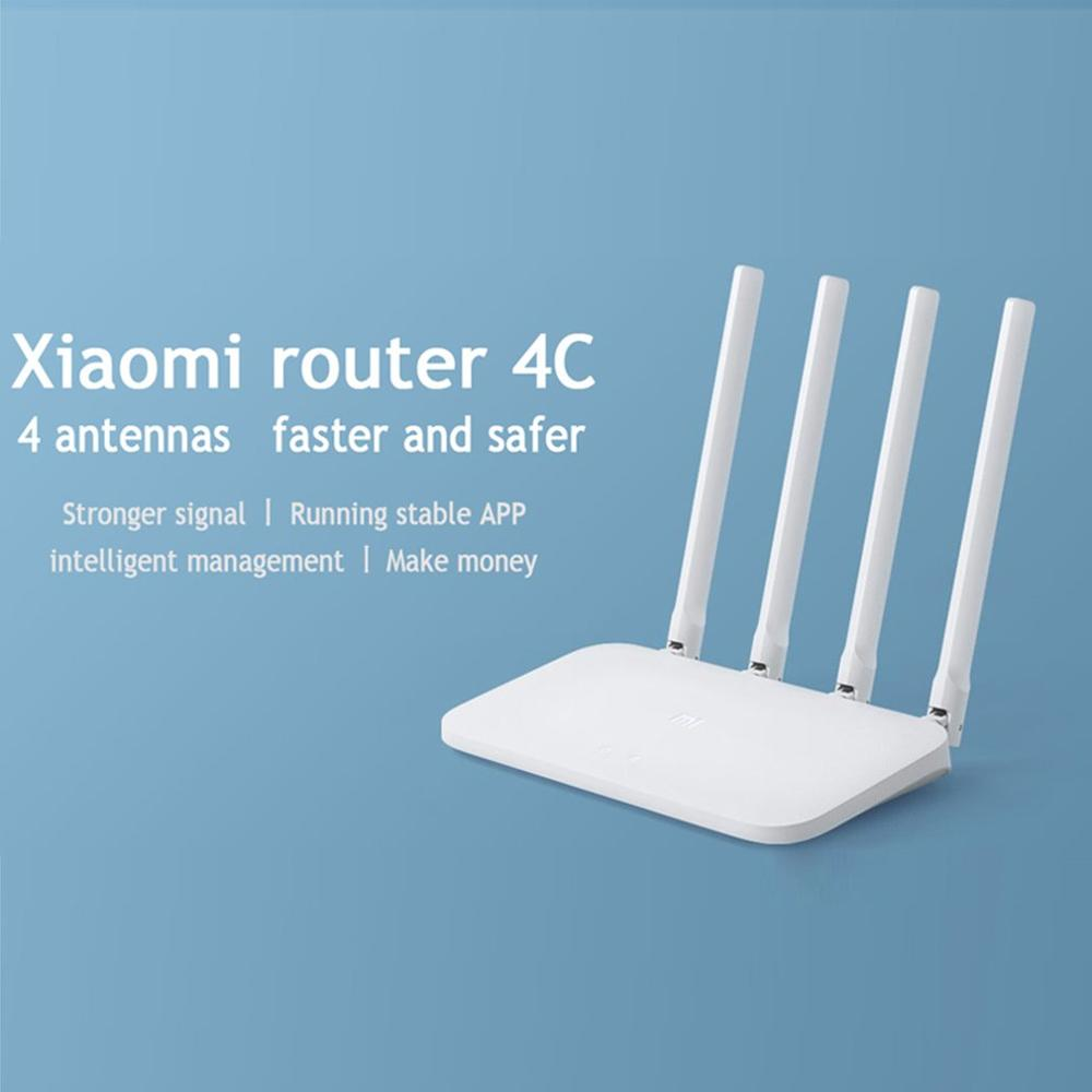 Xiaomi Mi WIFI Router 4C 64 RAM 300Mbps 2.4G 802.11 B/g/n 4 Antennas Band Wireless Routers WiFi Repeater APP Control