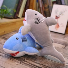 36cm Cute Simulation Shark Plush Keychain Pendant Kids Toys Soft Cartoon Whale Doll Backpack Kawaii Bag Girl Gift