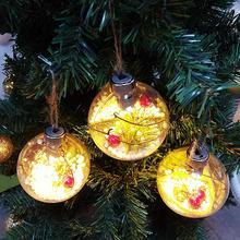 Елочные украшения Рождественские елочные шары с светодиодный подвесной подвеской рождественские предметы интерьера navidad