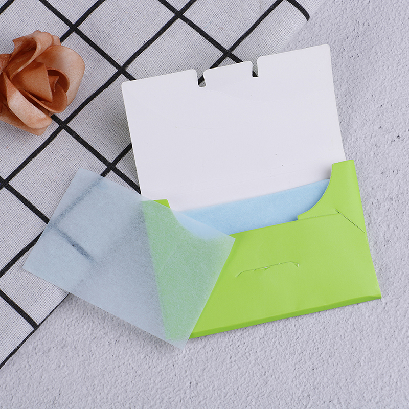 50pcs/Box Oil Absorbent Paper Oil Control Wipes Makeup Cleansing Summer Blotting Facial Oil Shrink Pore Face Cleaning Tool