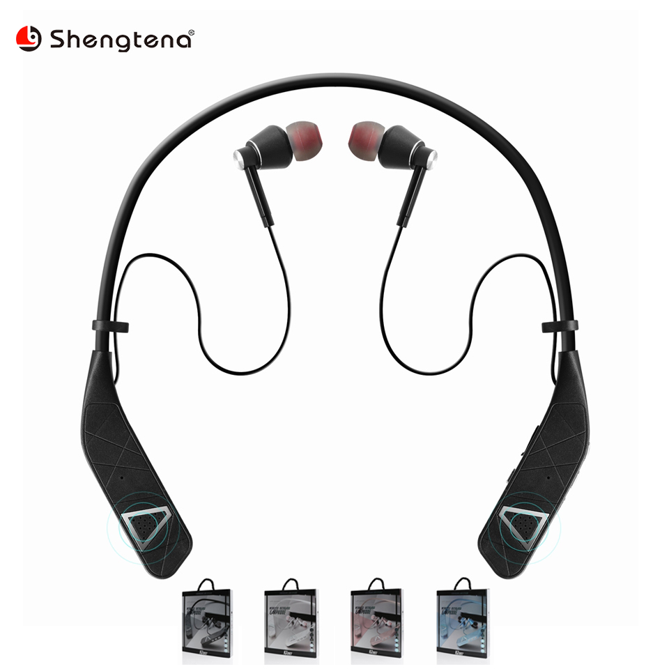 Vj097 Sport Bluetooth Earphone Neckband Wireless Headphone With Speaker Bluetooth Earphones Headphone For Iphone Android Headset Bluetooth Earphones Headphones Aliexpress