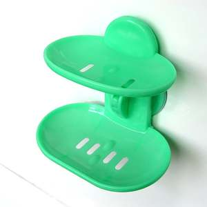 Holder-Rack Tray-Organizer Dishes Soap-Basket Suction-Cup-Type Double-Layers Home Bathroom