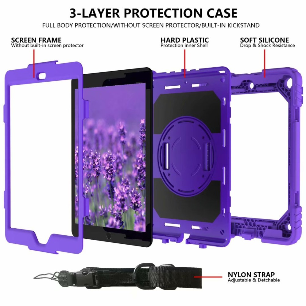 360 Rotating Strap For Holder Pencil iPad iPad Cover Case Hand Generation 7th Stand For