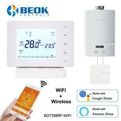 Beok беспроводной Wifi умный термостат для газового котла температурный контроллер работает с Google Home Alexa