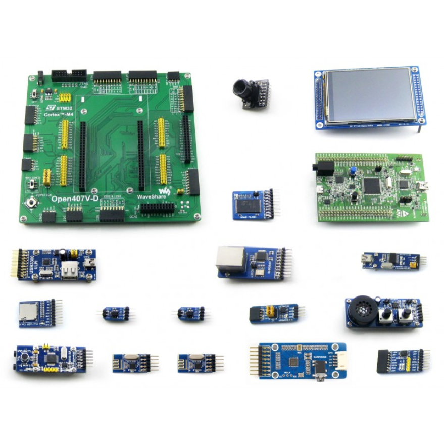 Купить с кэшбэком STM32F4DISCOVERY STM32 Development Board kit STM32F407VGT6 STM32F407  +15 Modules = Open407V-D Package B
