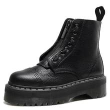 Size34-41 chunky botas de motocicleta para as mulheres inverno 2021 moda dedo do pé redondo rendas botas de combate senhoras sapatos
