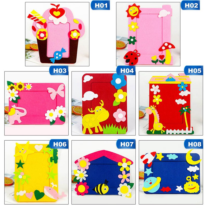 Children Handmade DIY Material Package Creative Non-woven Stereo Photo Frame Production Material Package