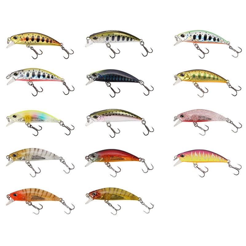 tsurinoya 14 pcs isca de pesca dw63 50mm 5g afundando minnow hard bait mini minnow agudos