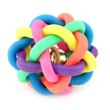 Bell Rainbow Sound zabawkowa piłka produkty do szkolenia zwierząt liny zabawki dla psów gumowa piłka Curatio interaktywny kolor śmieszne artykuły dla zwierząt BB50DT