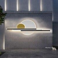 2021 neue Außen beleuchtung IP65 Wasserdichte LED Wand lampe Moderne Garten veranda Leuchte Lichter gold farbe 110V 220V leuchte Leuchte