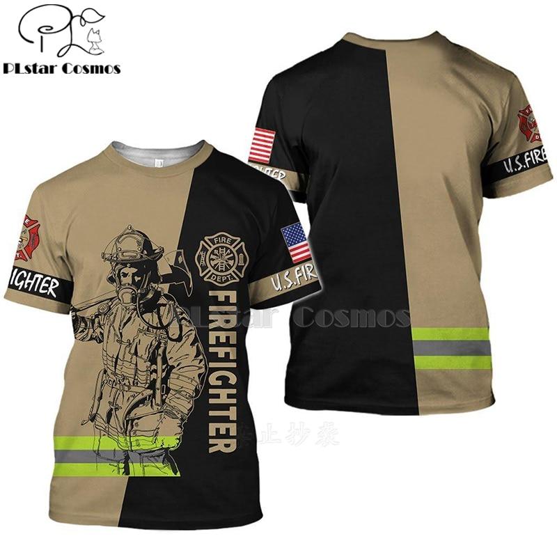 2020 New Fashion Men hoodie 3D Printed FireFighter Firemen t shirt tees shorts sleeve Apparel Unisex cosplay casual streetwear-3