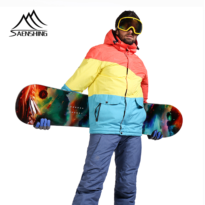 SAENSHING Snowboard Jacket Men Waterproof Ski Jacket Snow Wear Thicken Warm Outdoor Ski Winter Jackets Skiing And Snowboarding