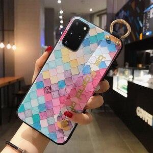 Image 2 - SoCouple Case For Samsung Galaxy A50 A51 A70 A71 A30s A20 21s S8 S9 S10 Note 10 plus S20 FE Plus Wrist Strap Phone Holder Case
