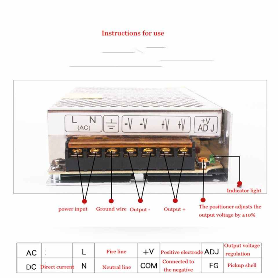 Transformadores para iluminación de DC 5V 12V 24 V fuente de alimentación adaptador 5 12 24 V 1A 2A 3A 5A 6A 8A 10A 15A 20A LED conductor de laboratorio