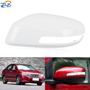 ZUK Exterior Rearview Door Mirror Cover For HONDA CITY 2009-2014 GM2 GM3 TM0 Side Wing Mirror Shell Housing Cap None Painted image