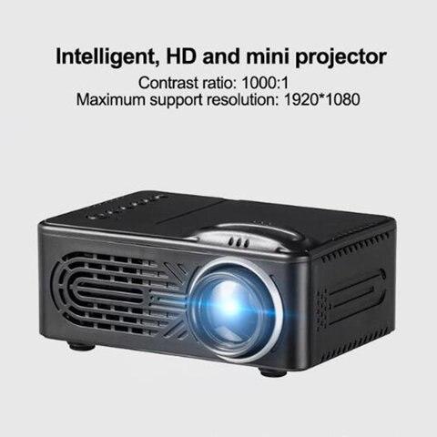 mini projetor led rd 814 suporta 1080 p hd 400 lumens com multi interface usb
