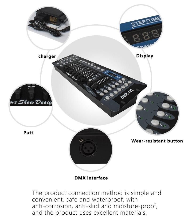 192 DMX Controller Stage Lighting DJ Equipment DMX Console For LED Par Moving Head Spotlights DJ Controller Wash Wall Disco
