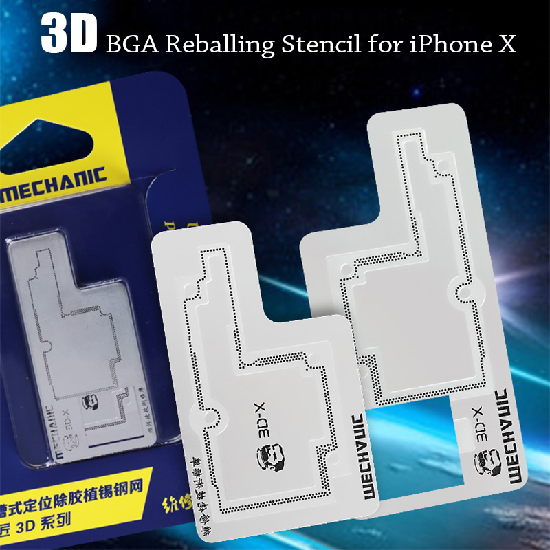 3D BGA Reballing Stencil Kit for iPhone X Motherboard Middle Layer Planting Tin