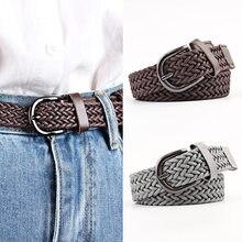 103 centimetri Delle Donne di Stirata di Torsione del Tessuto Cintura di Corda Cera Intrecciato Cintura di Modo Casual Femminile Della Cinghia Per I Jeans Del Vestito Fibbia In Metallo cinture