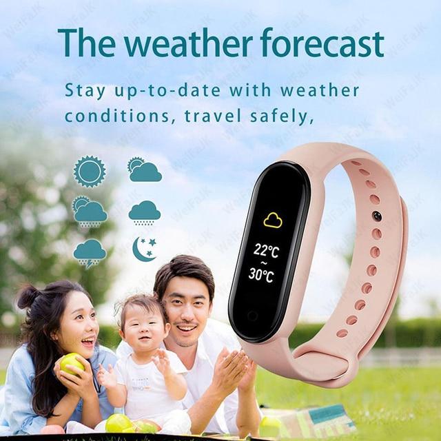 M6 Smart Watch 2021 For Men Wome Smart Bracelet Waterproof Sports Heart Rate Monitor Fitness Tracker Reloj Inteligente Clock m6 6