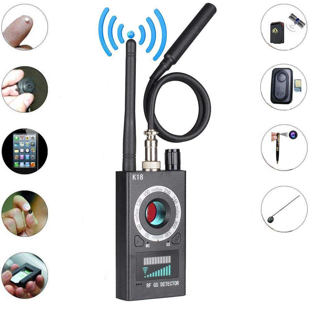 Multi-function Anti Detector Camera GSM Audio Bug Finder GPS Signal Lens RF Tracker Detect Wireless Products 1MHz-6.5GHz