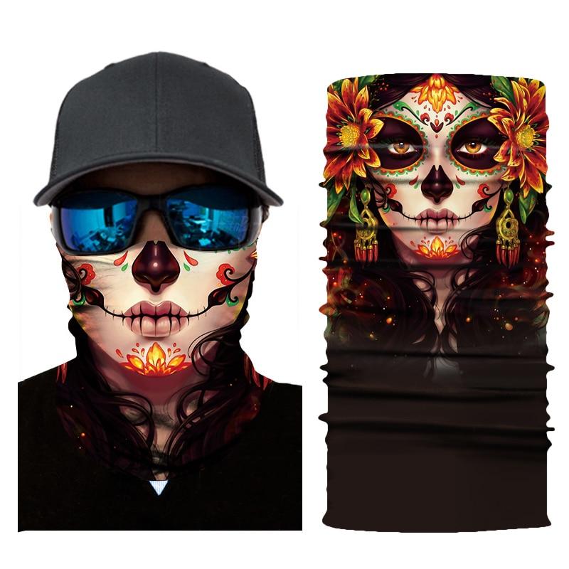 Motorcycle Face Shield Biker Bandana Skull Face Mask Ghost Balaclava Mascara Moto Kominiarka Cagoule Visage Ghost Foulard Moto