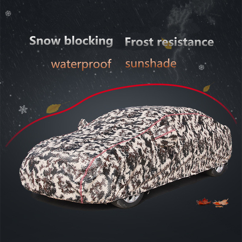 Winter car cover waterproof thickening snow cover universal car glass cover outdoor anti rain sun shade case for car - 3