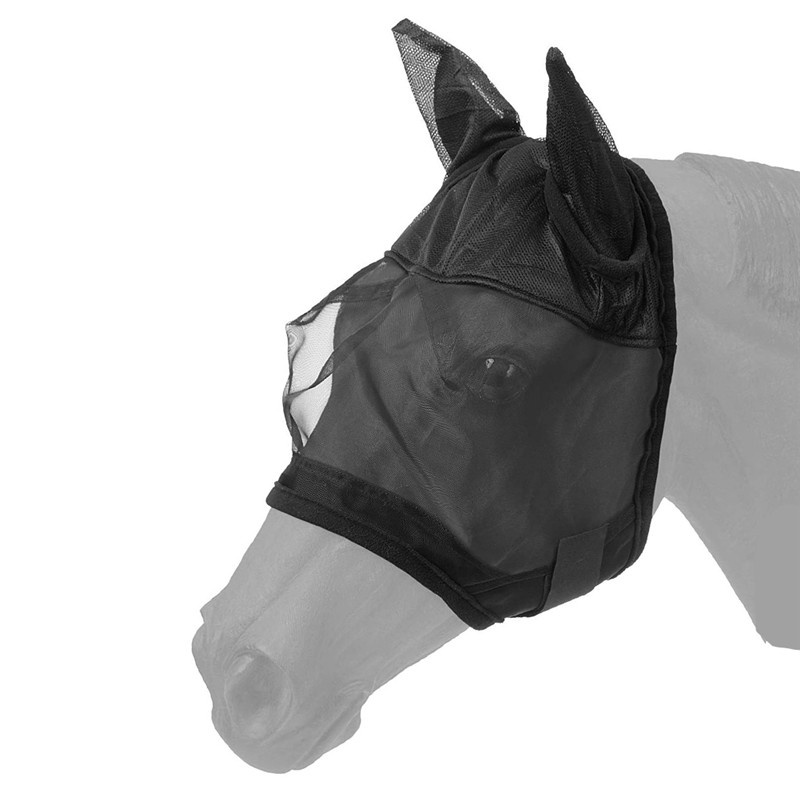 Full Face Mesh Anti-UV Anti Fly Mask With Ears Accessories Horse Riding Breathable Meshed Protector Horse Ear Horse Mask