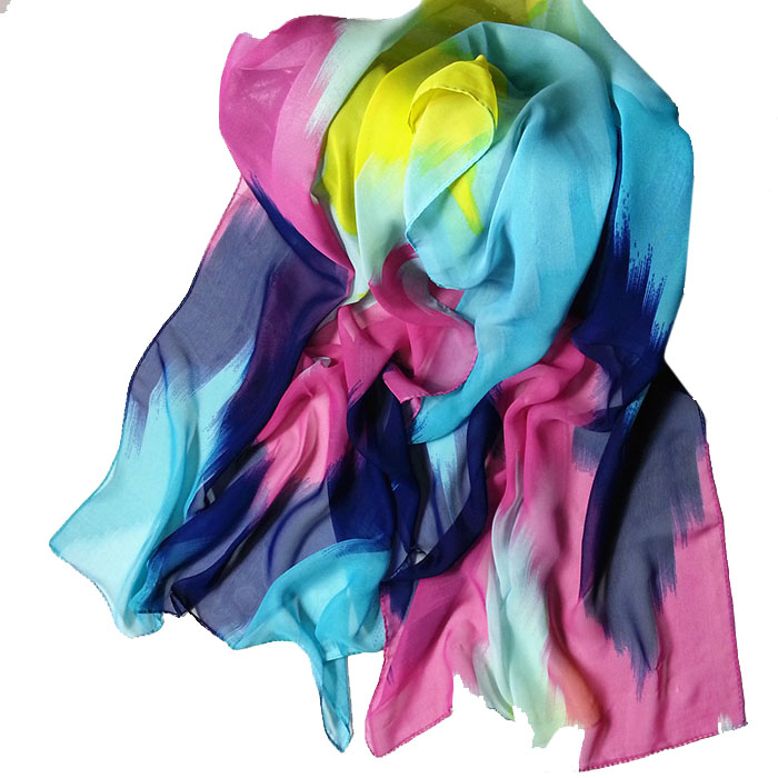 2020 New Autumn Winter Scarf  Women Fashion Chinese Ink Style Wrap Lady Thin Gradient Shawl Long Chiffon Scarf Scarves#926