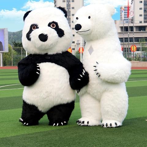 novo estilo inflavel traje da mascote panda urso polar para anunciar 2 m de altura