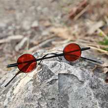 Small Round Steam Punk Polarized Sunglasses Vintage Alloy Frame Circle Mirror Gl