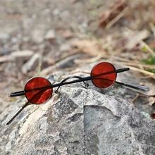 Small Round Steam Punk Polarized Sunglasses Vintage Alloy Fr