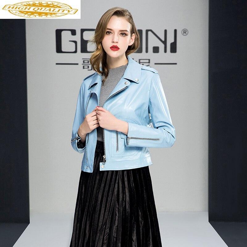 2020 Genuine Leather Jacket Autumn Jacket Women 100% Real Sheepskin Coat Female Streetwear Korean Bomber Jackets MY3991